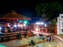 Durbar Square Kathmandu at night Stock Photo