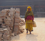 Woman nepali. Durbar square Kathmandu Stock Images