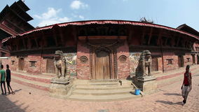 Durbar square in Patan stock video footage