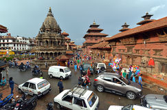 The Durbar square of Patan Royal city. Nepal Royalty Free Stock Photos