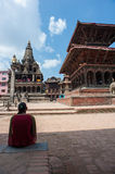 The Durbar square of Patan Royal city. Nepal Royalty Free Stock Photo