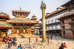 On durbar square Royalty Free Stock Photography