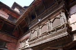 加德满都Durbar广场的尼泊尔Hanuman Dhoka王宫 免版税图库摄影