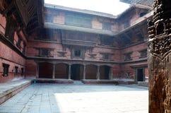加德满都Durbar广场的尼泊尔Hanuman Dhoka王宫 库存照片