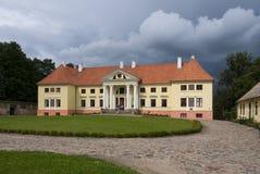 Durbe Palast nahe Tukums in Lettland Stockfotos