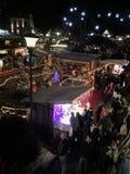 Christmas Market at Night royalty free stock photos