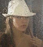 Durch das Fenster Stockfoto