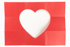 3 durch das Herz mit 3 Weiß Stockfoto