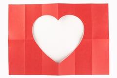 2 durch das Herz mit 6 Weiß Lizenzfreies Stockbild