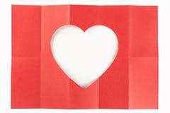 2 durch das Herz mit 5 Weiß Stockfotos