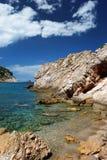 Durch das Meer auf Pelion Stockfoto