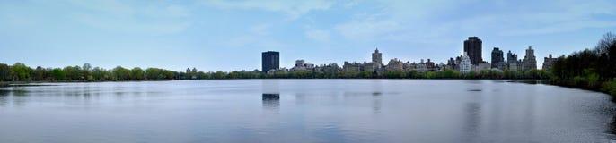 Durch den See des Central Park Stockfoto
