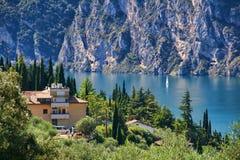 Durch den See Garda Stockfotos