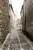 Durch die mittelalterlichen Straßen von erice Lizenzfreies Stockfoto