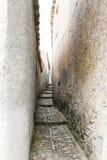 Durch die mittelalterlichen Straßen von erice Stockbild