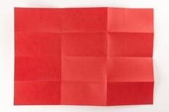 4 durch die Seite mit 3 Rottönen Stockfoto