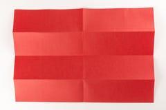 4 durch die Seite mit 2 Rottönen Stockfotos