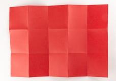 3 durch die Seite mit 5 Rottönen Stockfotografie