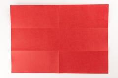 3 durch die Seite mit 2 Rottönen Stockfotos