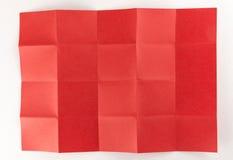 4 durch die Seite mit 5 Rottönen Stockfotografie