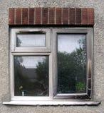 Durch Feuer beschädigtes Fenster Lizenzfreies Stockfoto