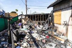 Durch Feuer beschädigtes Haus Lizenzfreie Stockfotografie