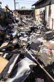 Durch Feuer beschädigtes Haus Lizenzfreie Stockbilder
