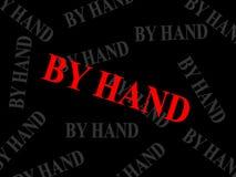 Durch-Handmarkierung Stockbild