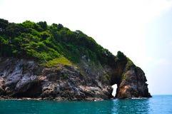 Durch Insel in Thailand Stockfotos