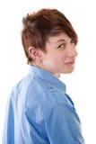 Durchbohren - junger Mann mit Ohrringen Stockfoto