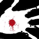 Durchbohrte Hand (Vektor) Lizenzfreie Stockfotos