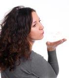 Durchbrenneninnere der attraktiven Frau lizenzfreies stockfoto
