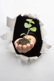 Durchbruch in der Umgebungsinnovation stockfoto