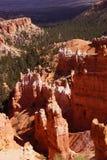 Durchdacht abgefressene Berggipfel und Unglücksboten Stockbilder