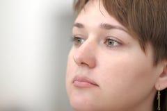 Durchdachte Frau Lizenzfreies Stockfoto