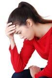 Durchdachte Frau mit Problem Lizenzfreie Stockbilder