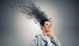 Durchdachte Geschäftsfrau Stockbilder