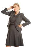 Durchdachte Geschäftsfrau Lizenzfreie Stockfotografie