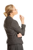 Durchdachte Geschäftsfrau Lizenzfreies Stockbild