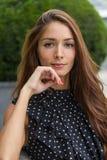 Durchdachte junge Frau Stockfotos