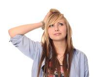 Durchdachte junge Jugendliche Lizenzfreie Stockfotos