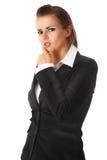 Durchdachte moderne Geschäftsfrau Lizenzfreie Stockfotos