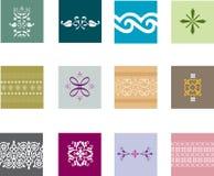 Durchdachte Muster Stockfotos