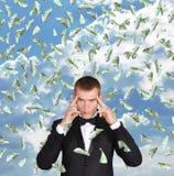 Durchdachter Geschäftsmann Lizenzfreies Stockbild