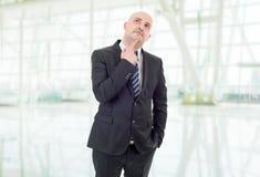 Durchdachter Geschäftsmann Lizenzfreie Stockbilder