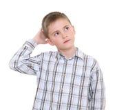 Durchdachter Junge Stockbild