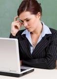 Durchdachter Lehrer Lizenzfreies Stockbild