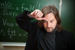 Durchdachter Professor Lizenzfreies Stockbild