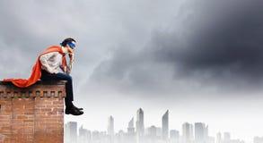 Durchdachter Supermann Lizenzfreie Stockfotografie
