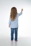 Durchdachtes blondes junges Mädchen Stockbilder